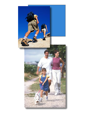 image of sports and family walking together